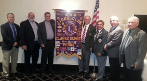 Abington Lions Club Officers for 2014-2015 are Rich Winslow, 1st VP; Mark Davis, Treasurer; Dave Lindsey, Tail Twister; Joe Skinner, District Governor; Gene Scalioti, 1st Vice Governor; Dave Jones, Secretary and Ed Borek, Club President